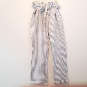Who What Wear | Linen Blend Striped Pants